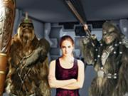 Alyee and her wookiee guards