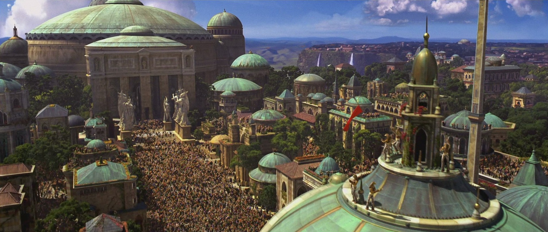 Theed, the Naboo Capital with its artistic architecture