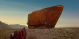 A Jawa sandcrawler in the desert