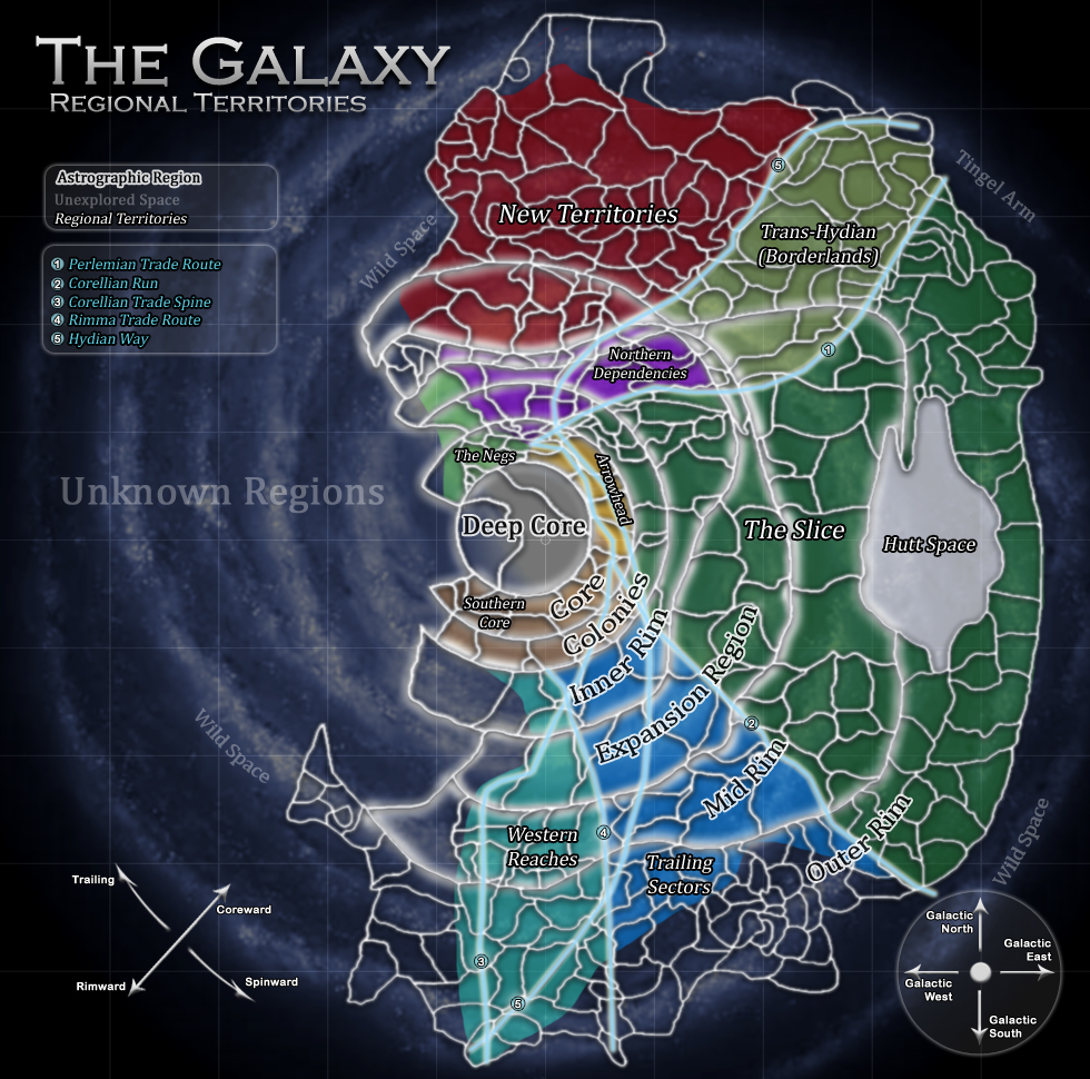 Regional Territories of the Galaxy
