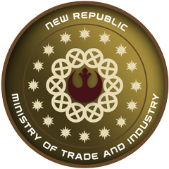 The Ministry of Trade and Industry is responsible for the majority of the New Republic's economic output.